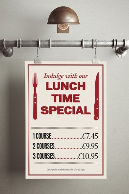 Middletons Steakhouse Lunch Poster 2