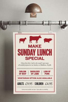 Middletons Steakhouse Lunch Poster