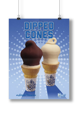 Fosters Freeze Poster Design