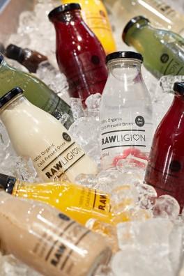 Rawligion branded bottle design
