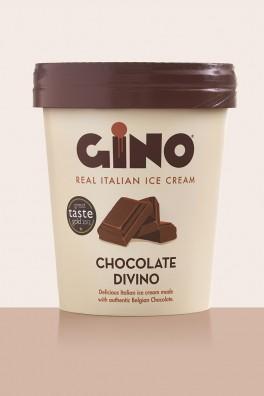 Gino Gelato Chocolate Divino Packaging Design