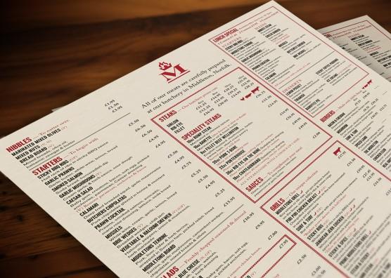 Middletons Steakhouse Menu