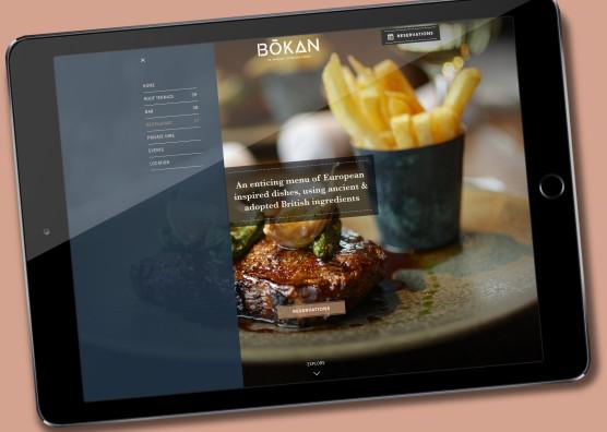 BŌKAN Website iPad