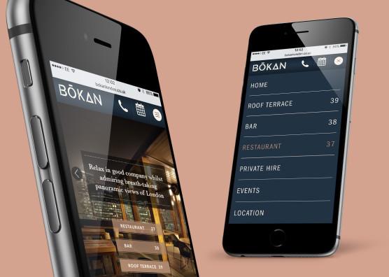 BŌKAN Website iPhone