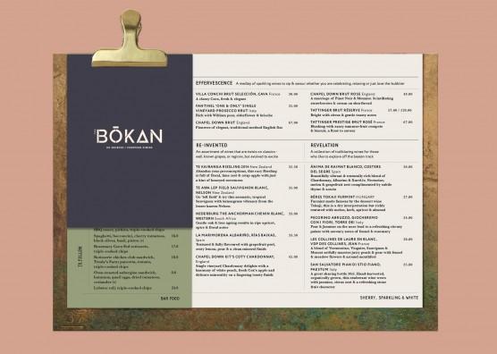 BŌKAN Restaurant Menu Design