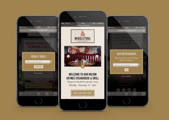 Middeltons Mobile Website Design
