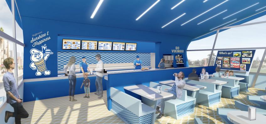Fosters Freeze Interior Restaurant Design