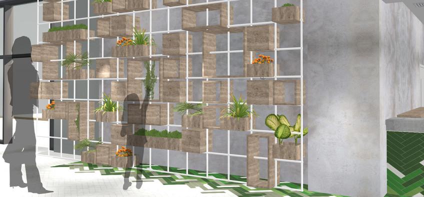 Oddsocks Planting Wall Render