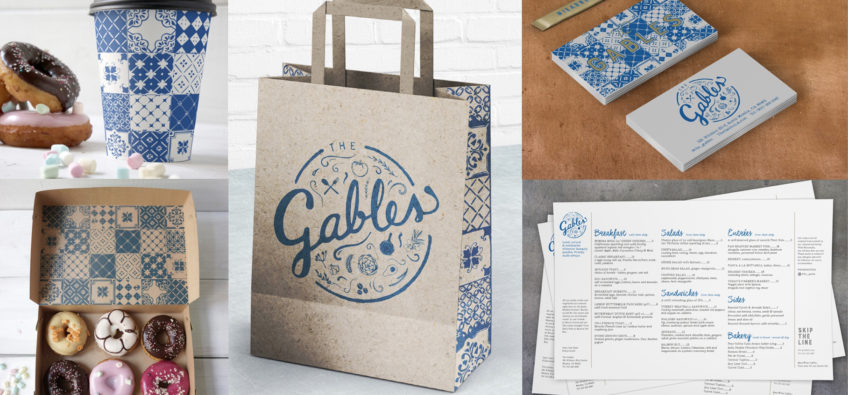 The Gables Print Collateral
