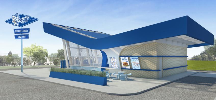 Fosters Freeze Exterior Restaurant Design