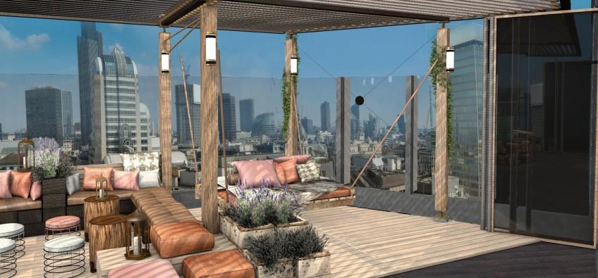 BŌKAN Roof Terrace Visual