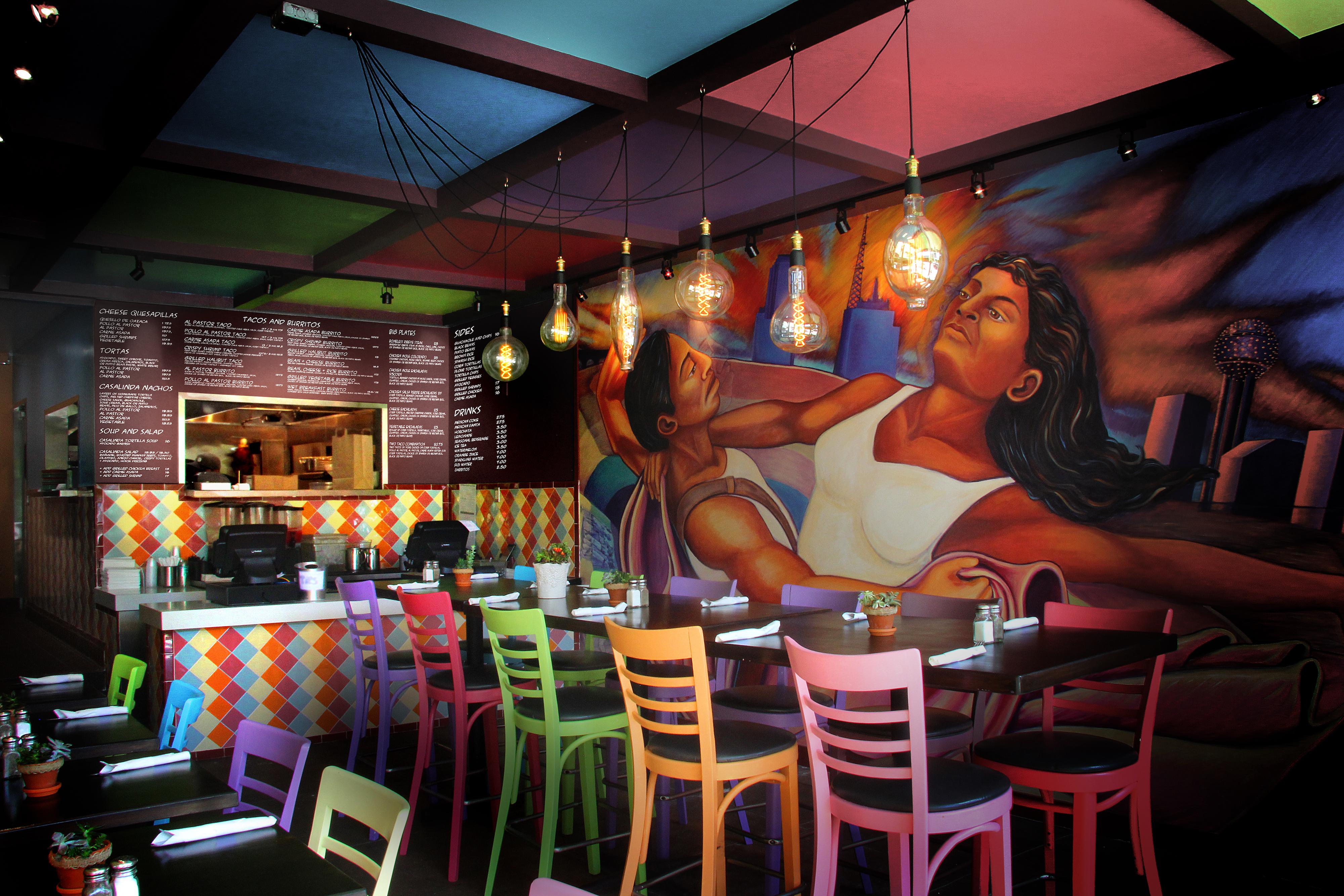 Casa Linda mural and interiors